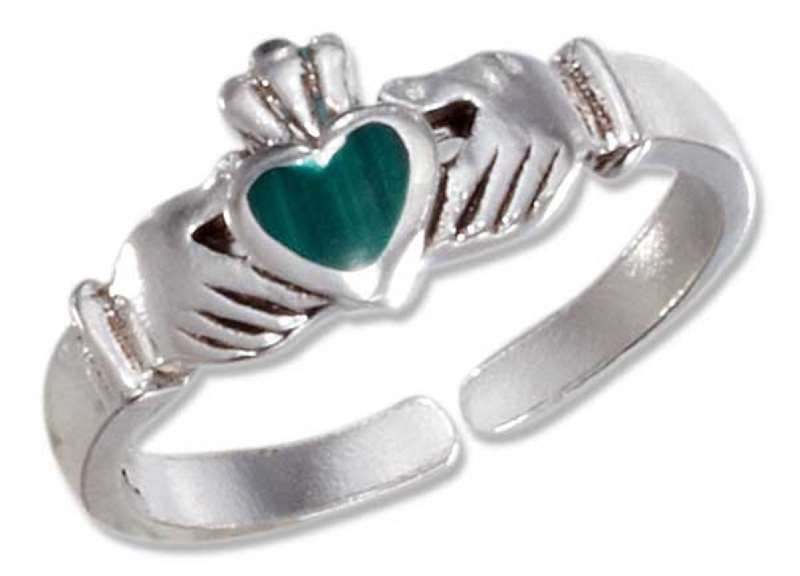 Malachite Toe Rings