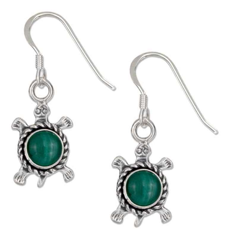 Malachite Turtle Earrings