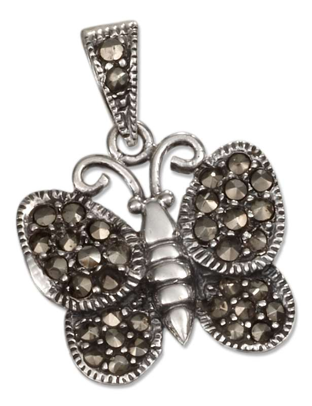 Marcasite Butterfly Pendant Marcasite Bail