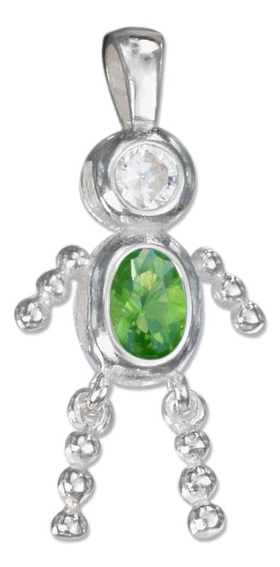 May Birthstone Brat Child Baby Boy Charm Pendant