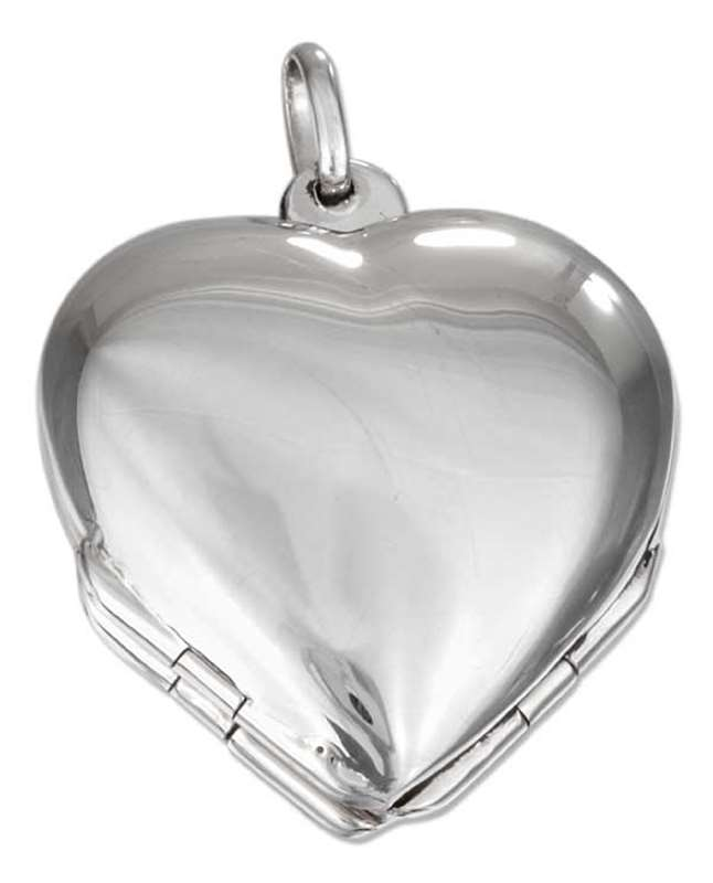 Four Picture Clover Heart Locket Pendant
