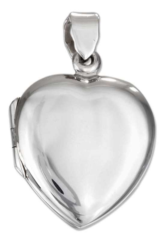 Plain Flat Heart Locket Pendant