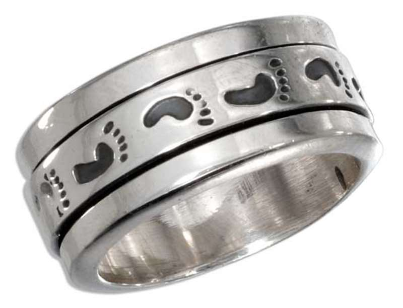 Men's Footprint Spinner Ring