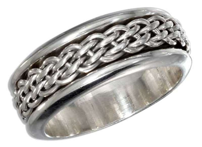 Men's Woven Spinner Ring
