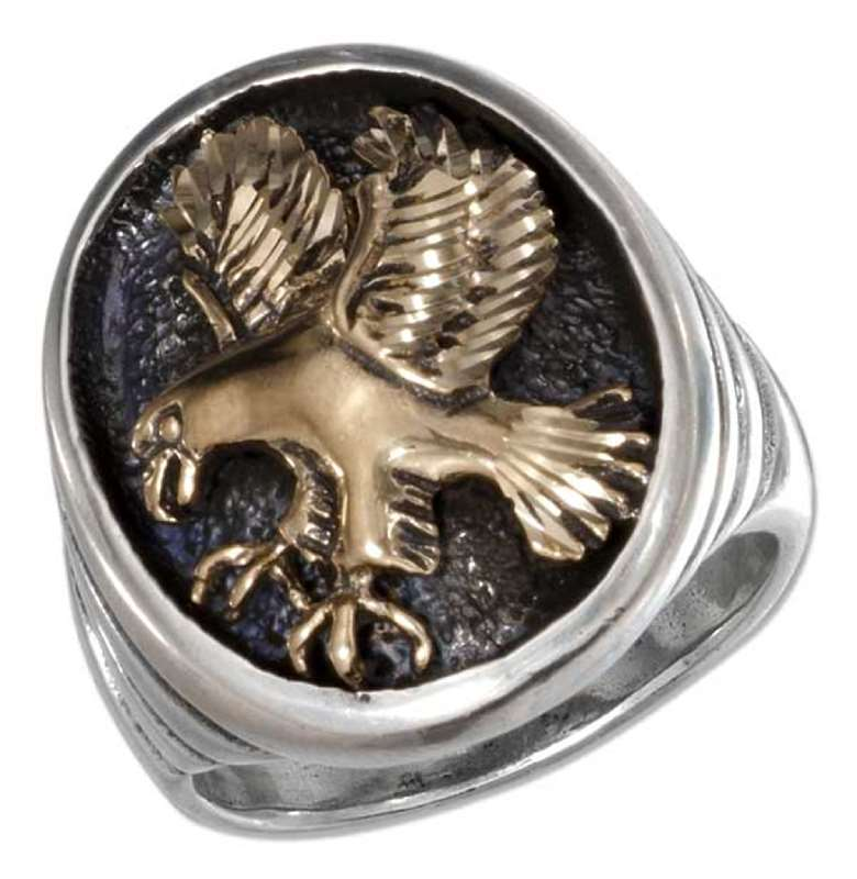 Men's Bronze Eagle Ring