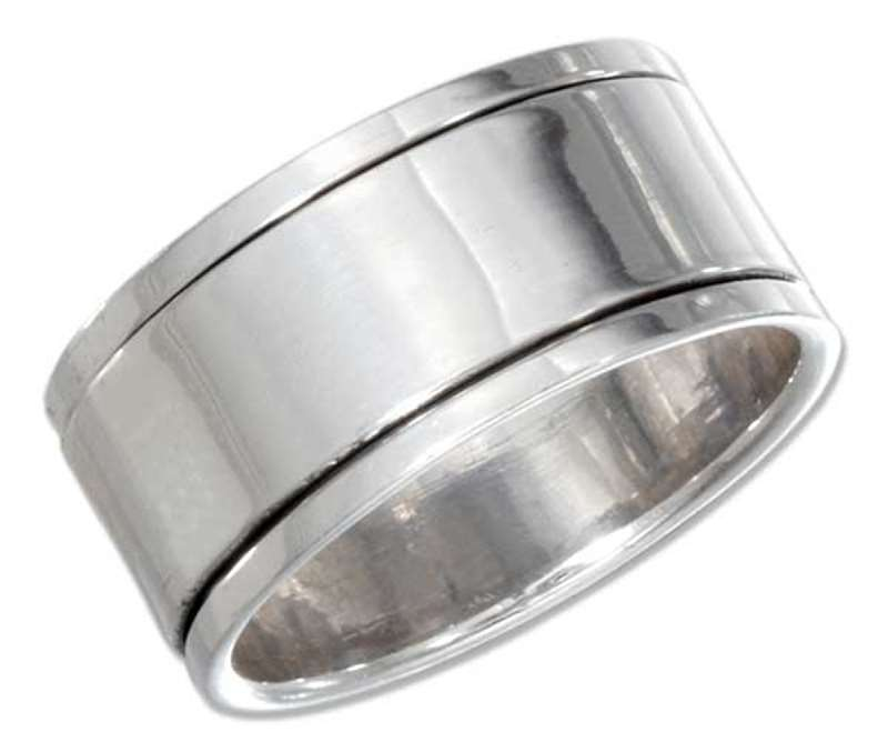 Men's 7mm Wide Band Plain Spinner Ring