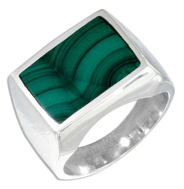 Men's Malachite Rings