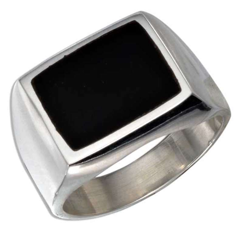 Men's Black Onyx Ring A Black Onyx Stone