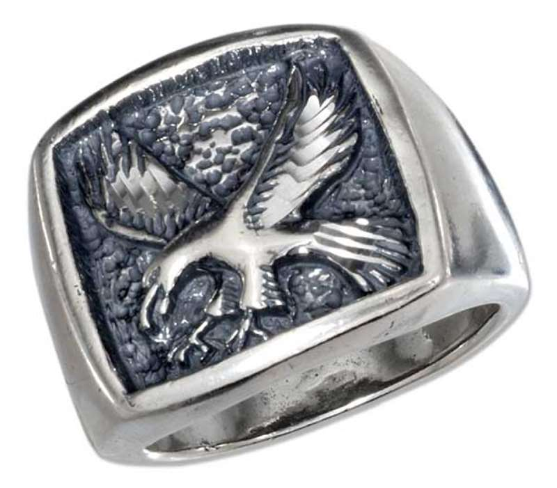 Men's Fishing Eagle Talons Extended Ring