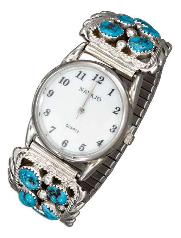 Men's Turquoise Stone Nugget Watch