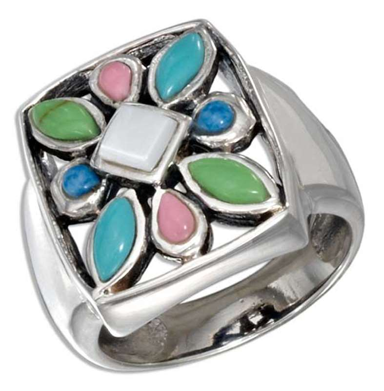 Stone Starburst On Open Box Setting Ring
