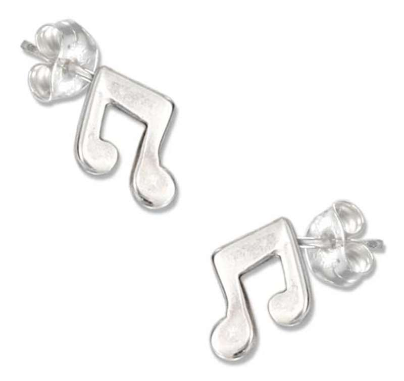 Music Note Post Earrings