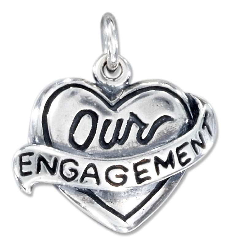 """OUR ENGAGEMENT"" Heart Charm"
