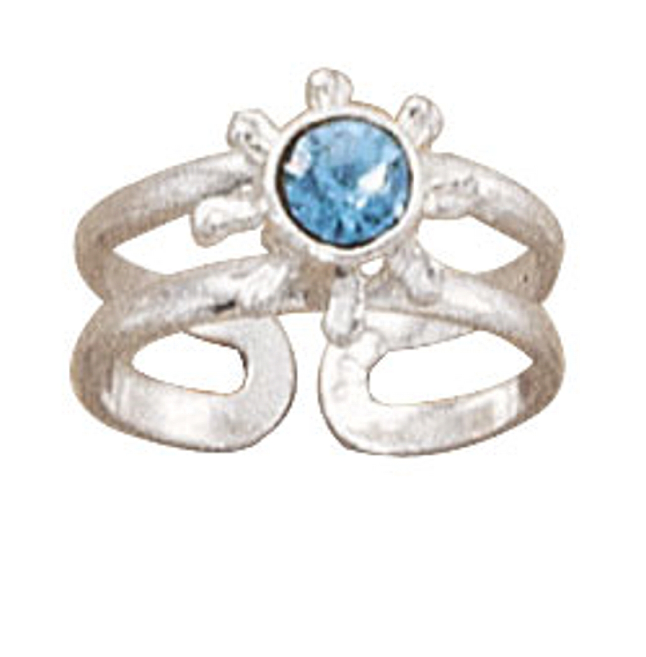 Blue Crystal Toe Ring