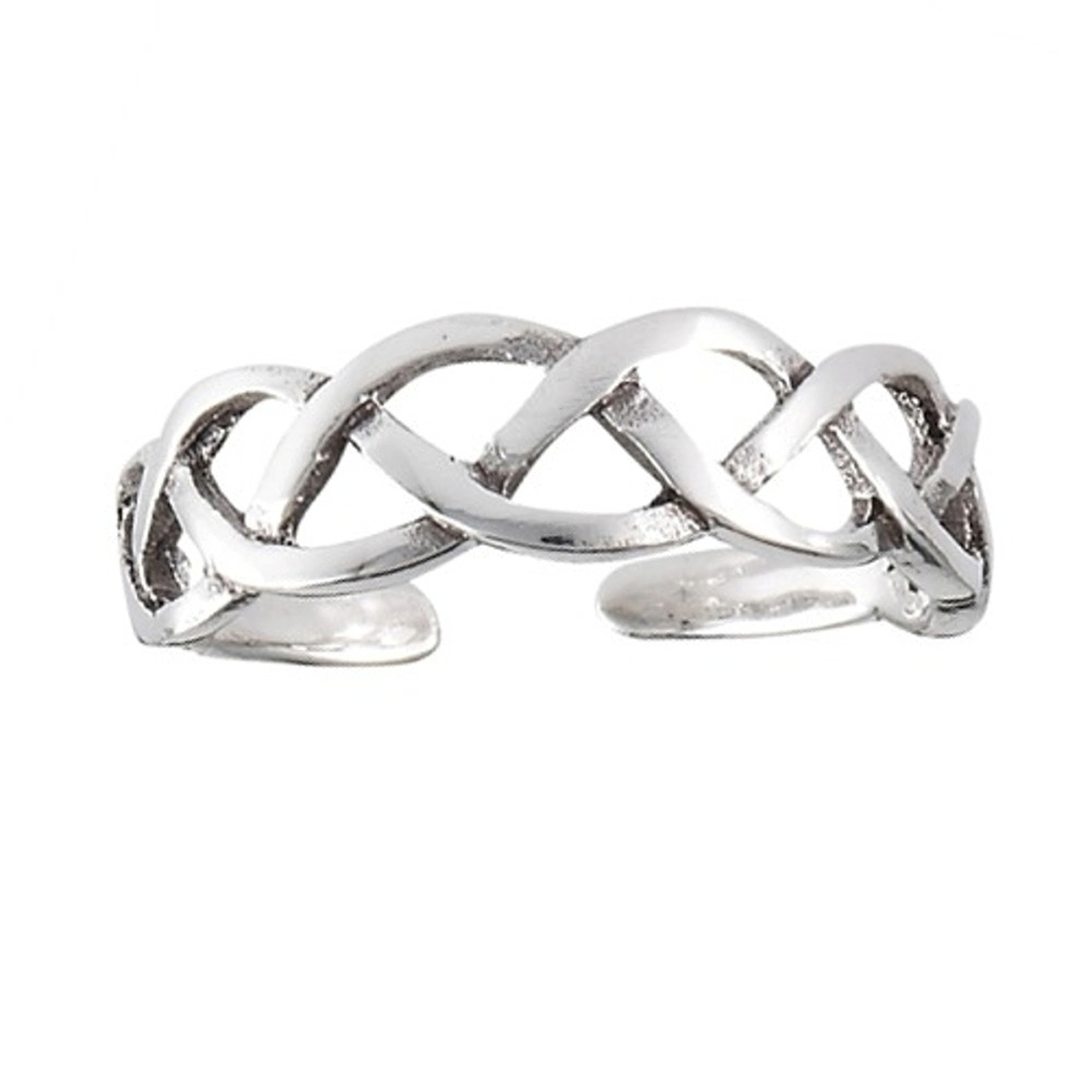 Open Braided Celtic Weave Adjustable Toe Ring