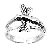 Large Dragonfly Adjustable Toe Ring