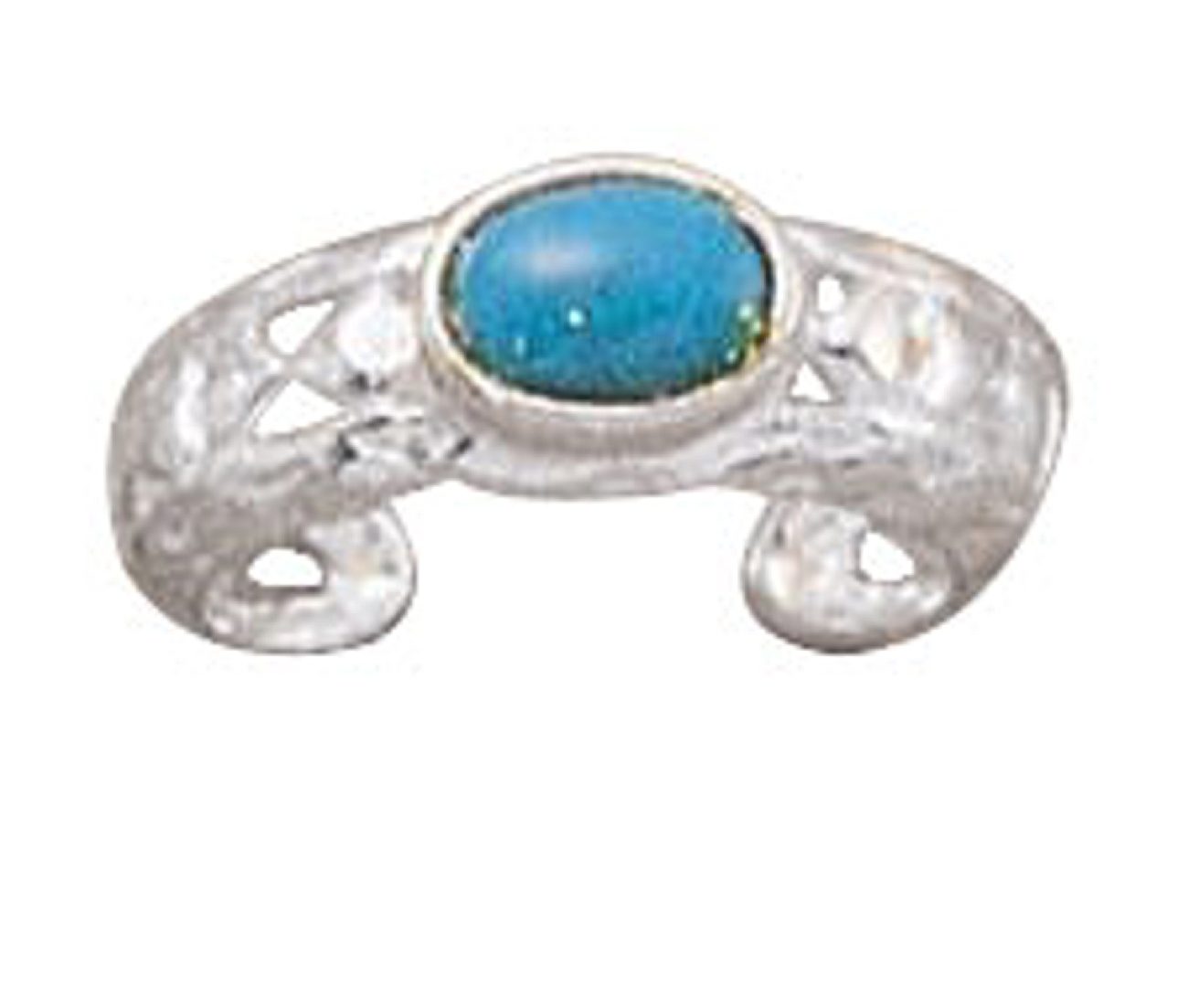 Light Blue Turquoise Toe Ring