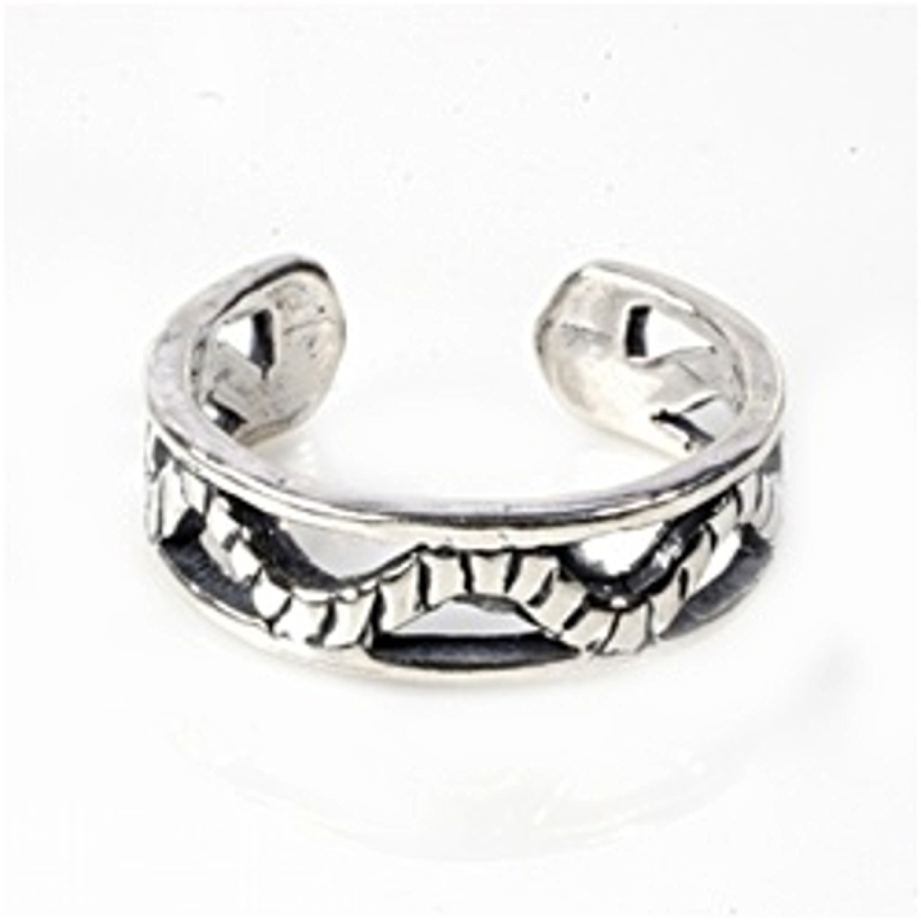 Open Wavy Rope Band Adjustable Toe Ring