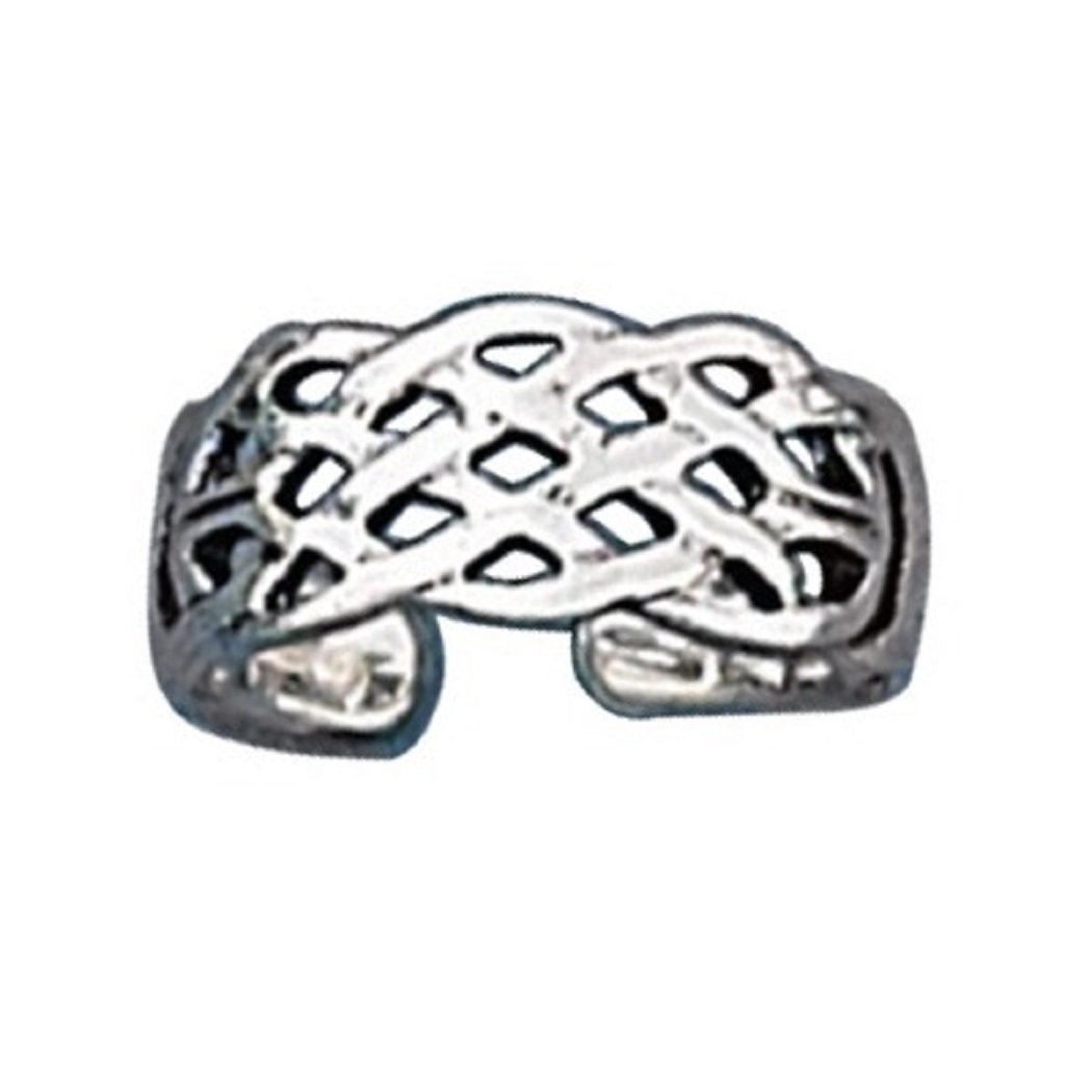 Open Weave Celtic Adjustable Graduated Toe Ring
