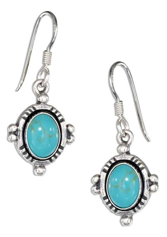Turquoise Dangle Earrings Border