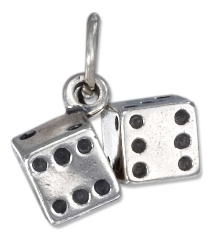 3D Small Pair Of Craps Dice Good Luck Charm