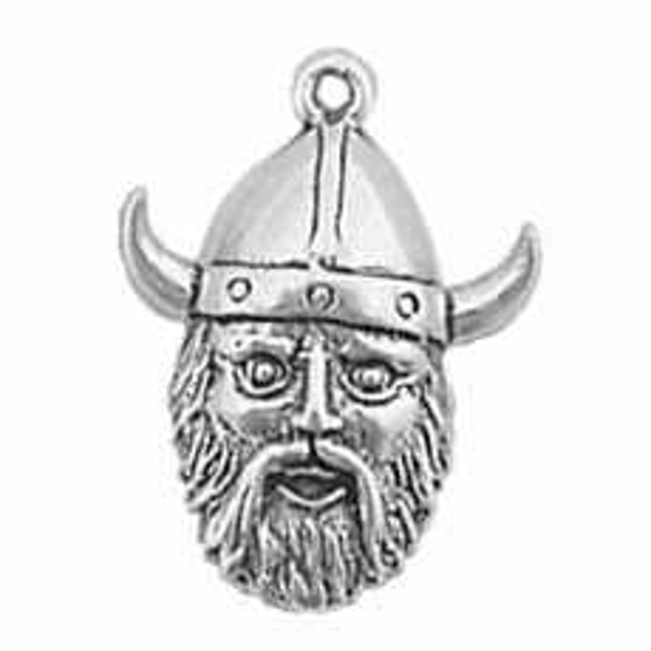 Partial 3D Viking Head With Horned Hat Charm