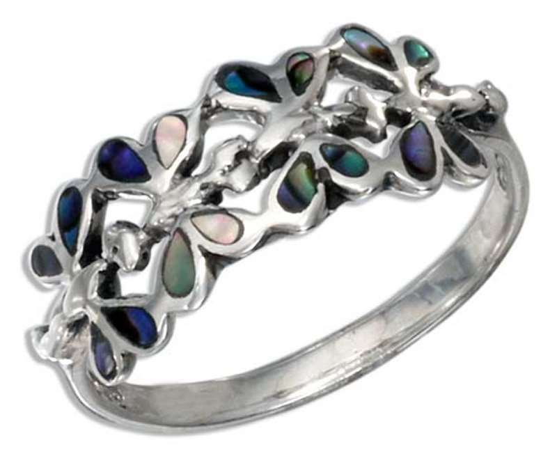 Butterfly Ring Abalone Paua
