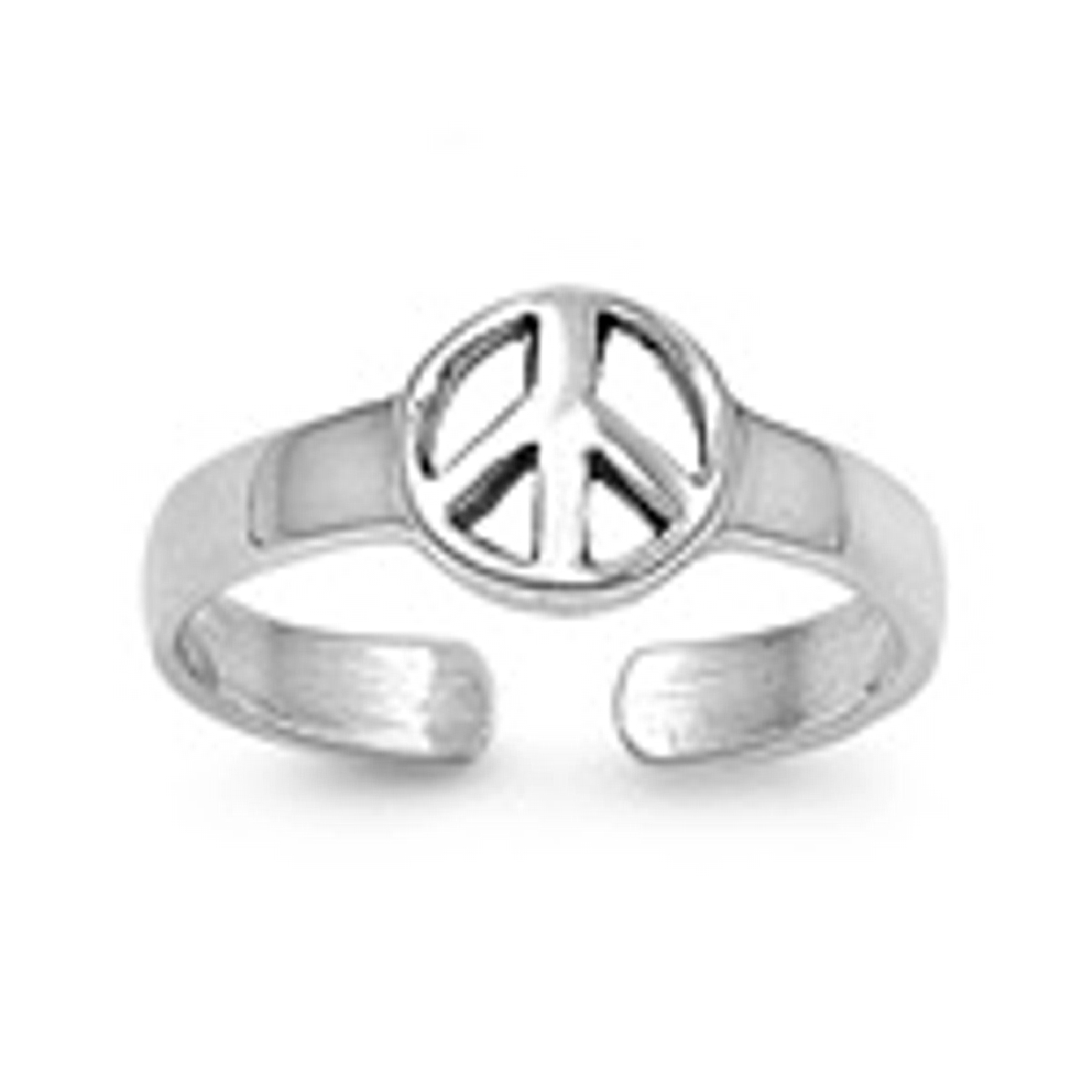 Peace Symbol Sign Adjustable Toe Ring