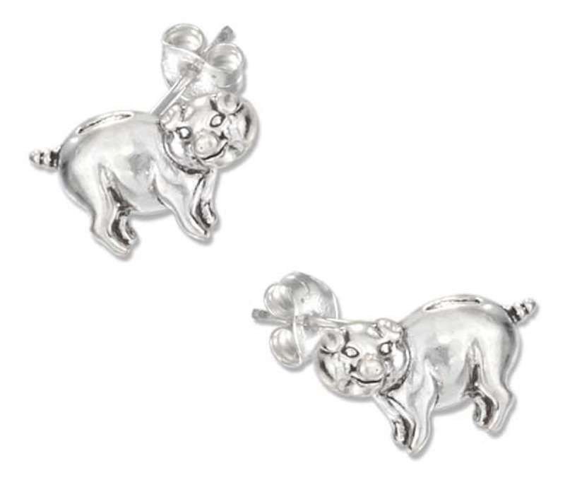 Pig Post Earrings