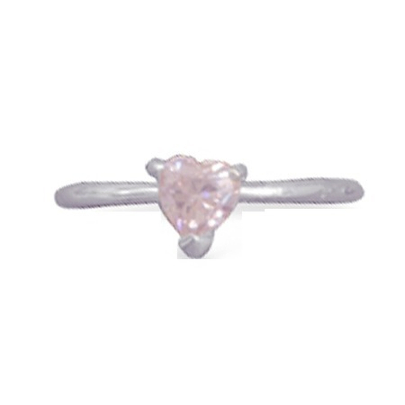 Pink Ice Cubic Zirconia Heart Adjustable Toe Ring