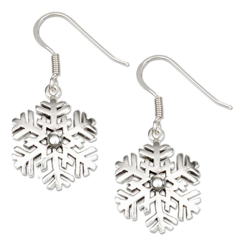 Snowflake Dangle Earrings