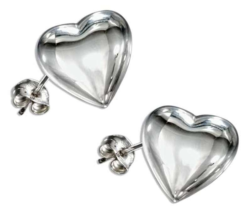 Polished Heart Post Earrings
