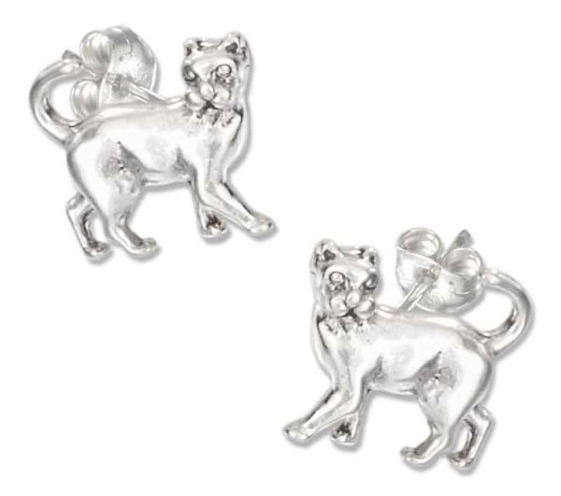 Prancing Cat Post Earrings