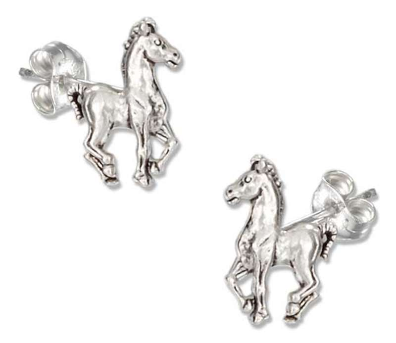 Prancing Horse Post Earrings