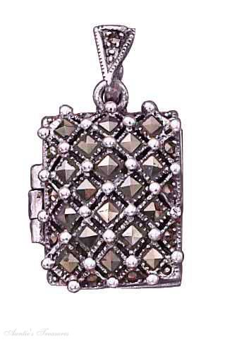 Marcasite Locket Pendants