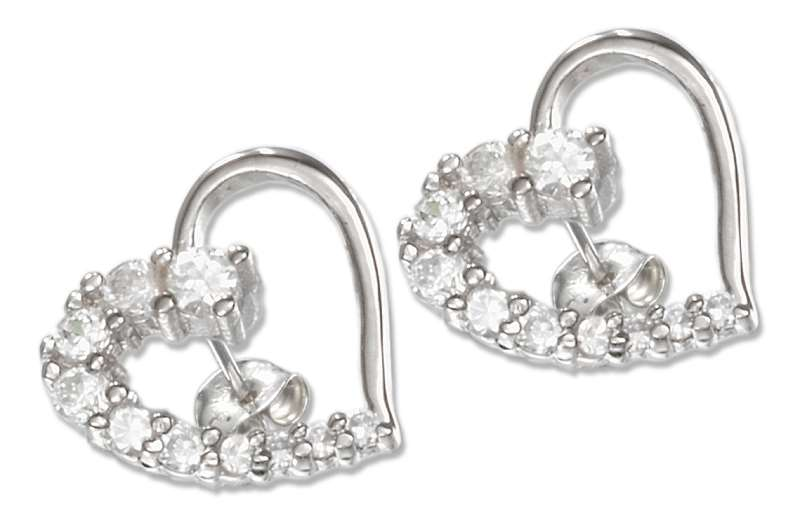 13mm Journey Style Open Heart Post Earrings