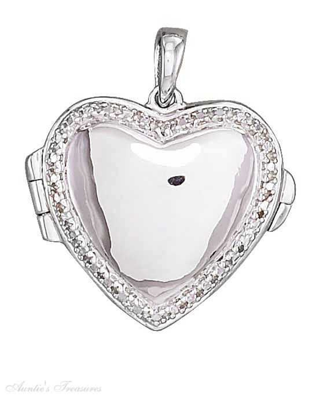 Heart Shaped Illusion Locket Pendant