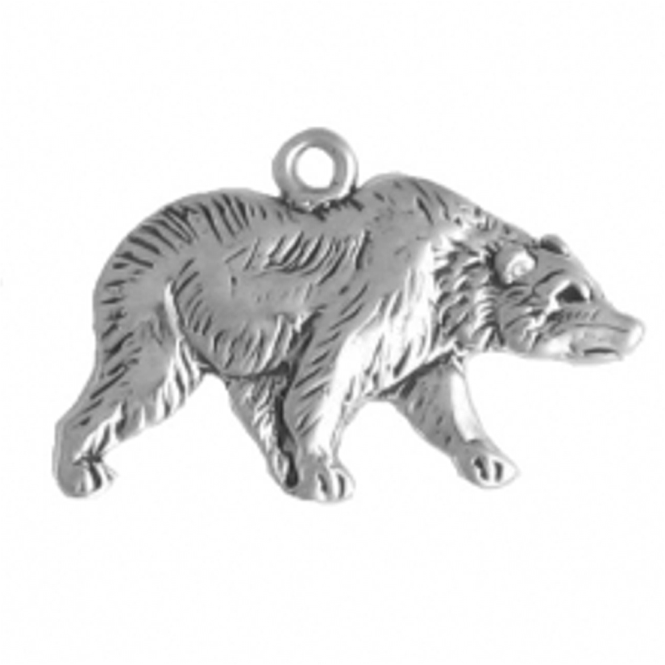Right Facing Walking Grizzly Bear Charm