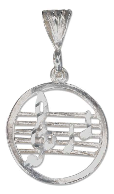 Music Staff Stave Treble Clef Notes Pendant