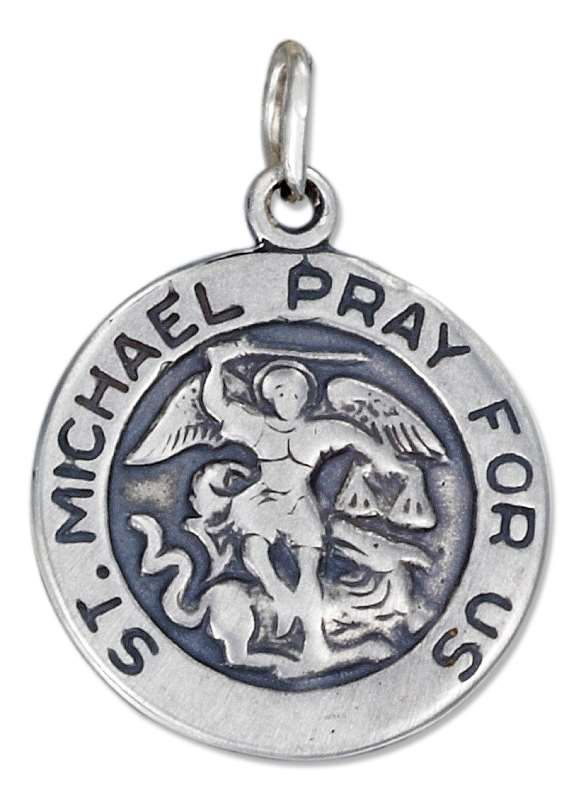 Round Saint Michael Medallion Charm