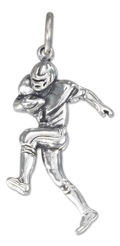 Detailed Football Player Charm