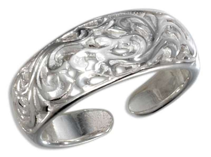 Scroll Designer Toe Ring