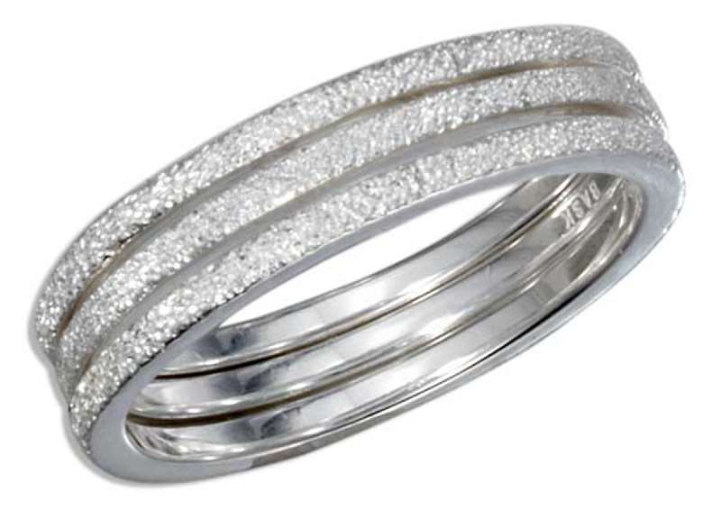 3 Band Stardust Stack Ring