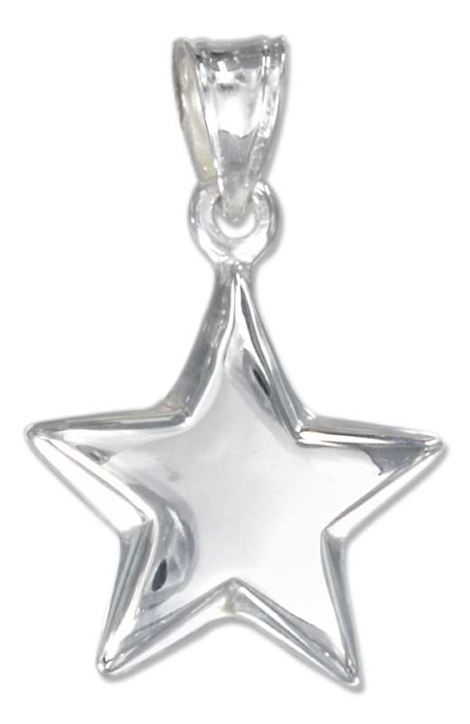 3D High Polished Star Pendant