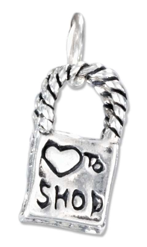 3D Shopping Bag Charm
