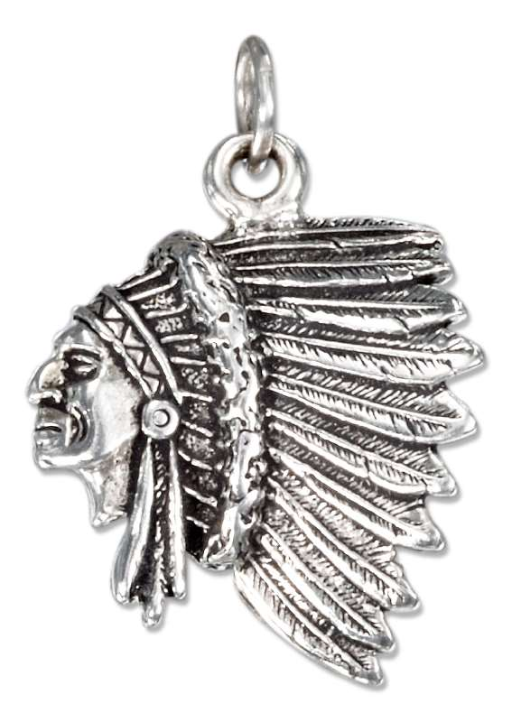 Indian Chief Headdress Charm