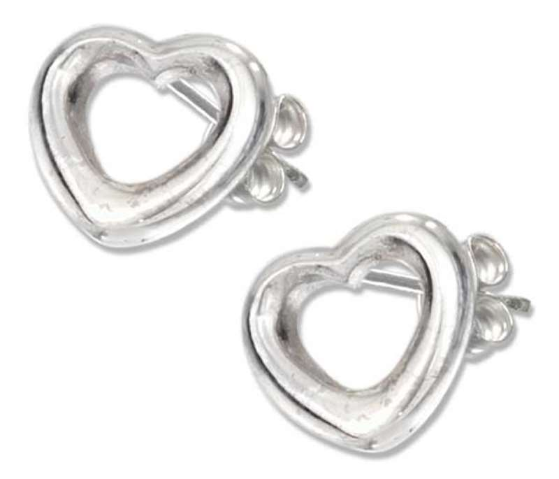 Open Heart Post Earrings