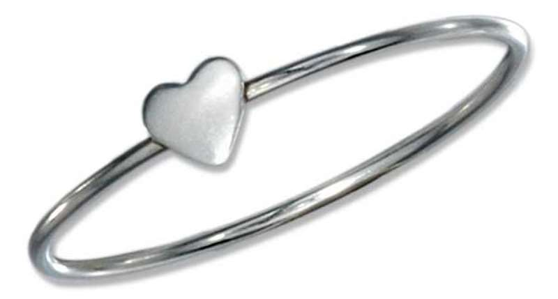 Single Heart Ring On Thin Band
