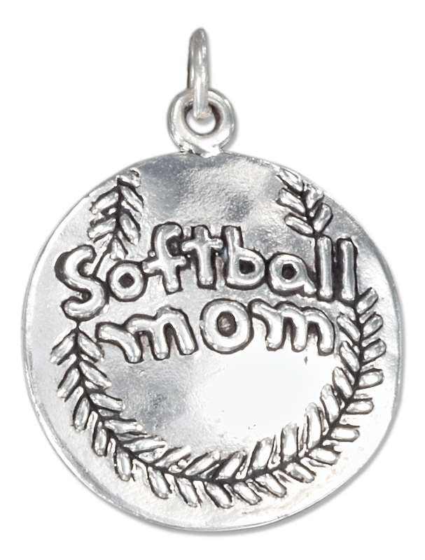 """Softball Mom"" Charm"