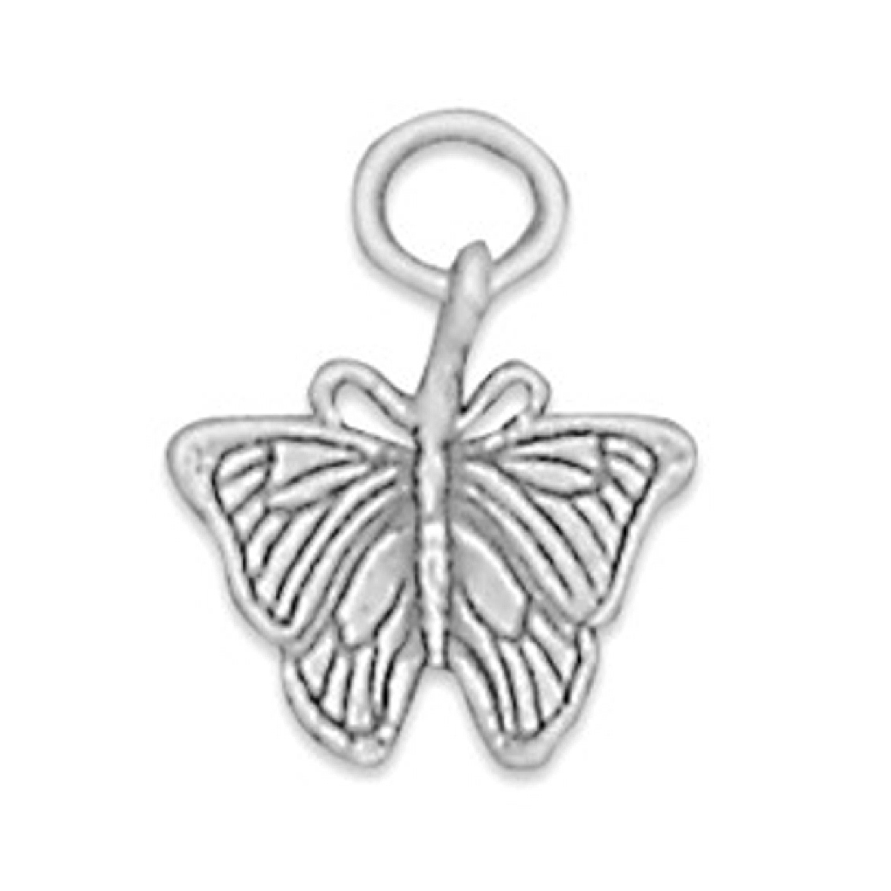 3D Bent Wing Butterfly Charm